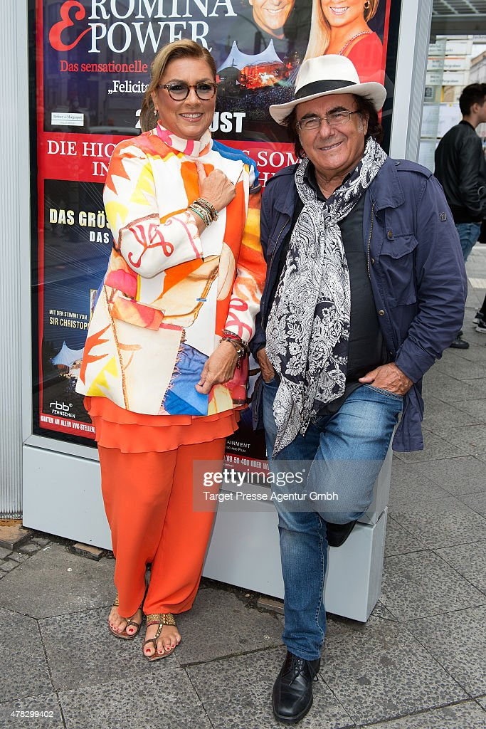 Al Baño Romina Power:Al Bano and Romina Power attend the Al Bano & Romina Power press