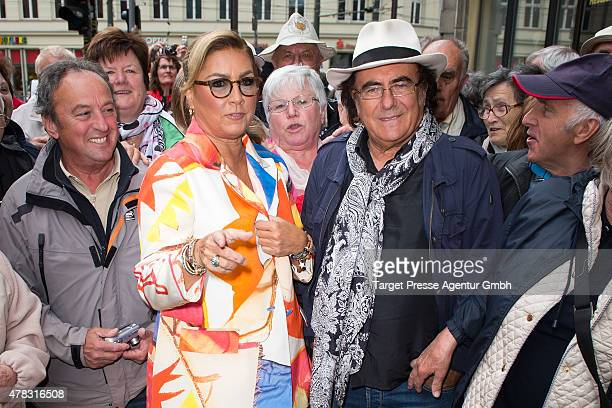 Al Bano and Romina Power attend the Al Bano Romina Power press conference on June 24 2015 in Berlin Germany