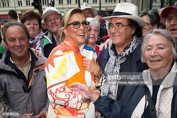 Al Bano and Romina Power attends the Al Bano Romina Power press conference on June 24 2015 in Berlin Germany