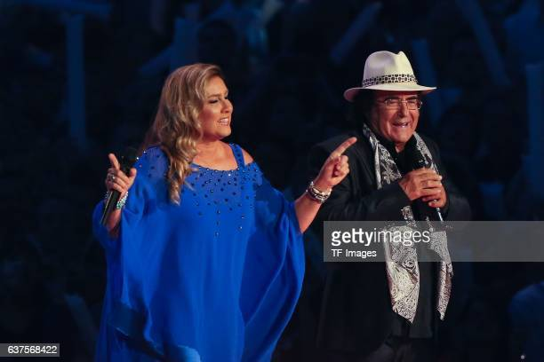 Al Bano and Romina Power perform during the taping of the show 'Schlagerboom Das Internationale Schlagerfest' at Westfalenhalle on October 21 2016 in...