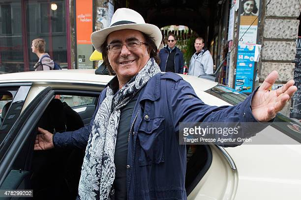 Al Bano attends the Al Bano Romina Power press conference on June 24 2015 in Berlin Germany