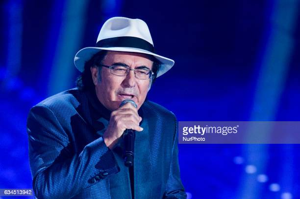 Al Bano attends the third night of the 67th Sanremo Festival 2017 at Teatro Ariston on February 9 2017 in Sanremo Italy