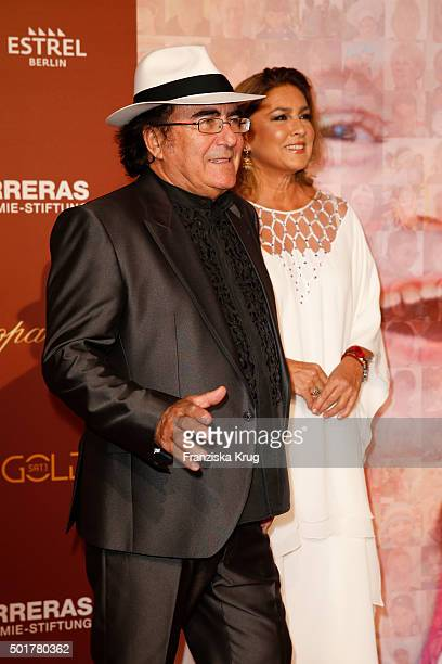 Al Bano Carrisi and Romina Power attend the 21th Annual Jose Carreras Gala at Hotel Estrel on December 17 2015 in Berlin Germany