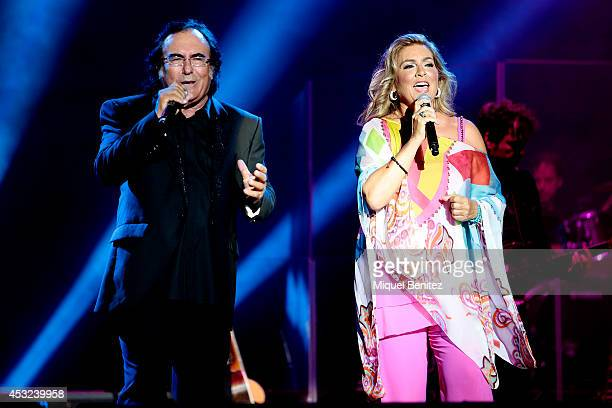 Al Bano Carrisi and Romina Power perform on stage their last show 'AL BANO in concert special guest ROMINA POWER' during the Festival Castell...