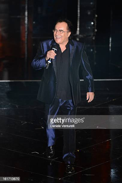 Al Bano Carrisi attend the third night of the 63rd Sanremo Song Festival at the Ariston Theatre on February 14 2013 in Sanremo Italy