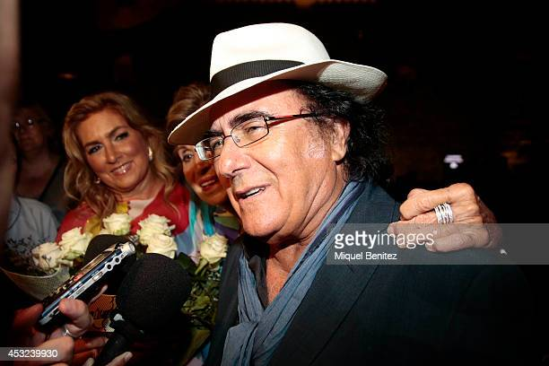 Al Bano Carrisi attends his last show 'AL BANO in concert special guest ROMINA POWER' during the Festival Castell Peralada on August 5 2014 in...