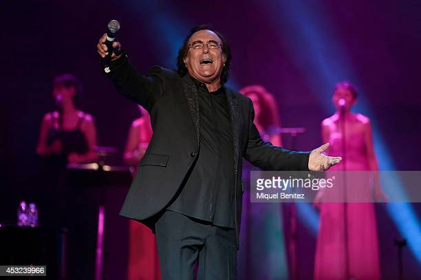 Al Bano Carrisi performs on stage his last show 'AL BANO in concert special guest ROMINA POWER' during the Festival Castell Peralada on August 5 2014...