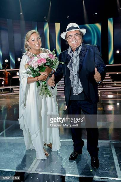 Al Bano Power and Romina Power attend the television show 'Willkommen bei Carmen Nebel' at Velodrom on September 19 2015 in Berlin Germany