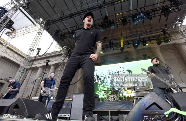 Al Barr and Ken Casey of Dropkick Murphys perform during the 'From Boston to Berkeley' tour at University of California Berkeley on August 20 2017 in...