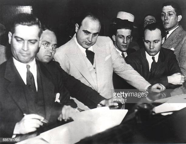 Al Capone signing Uncle Sam's Bail Bond June 7 United States