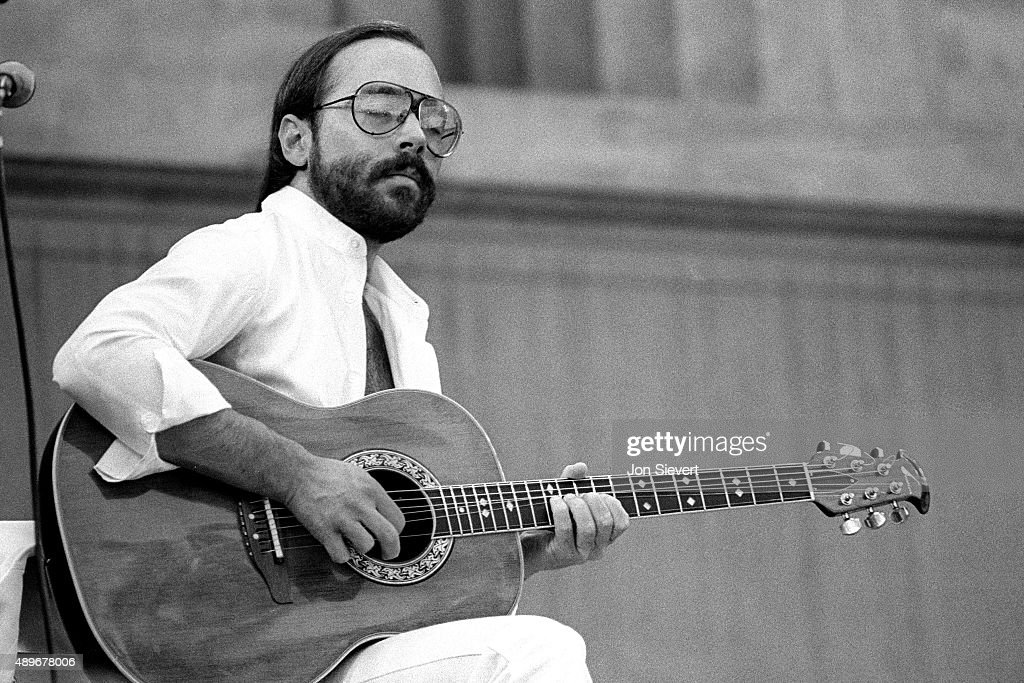 Al Di Meola performs at the Bread and Roses Festival on October 3 1981at the Greek Theater