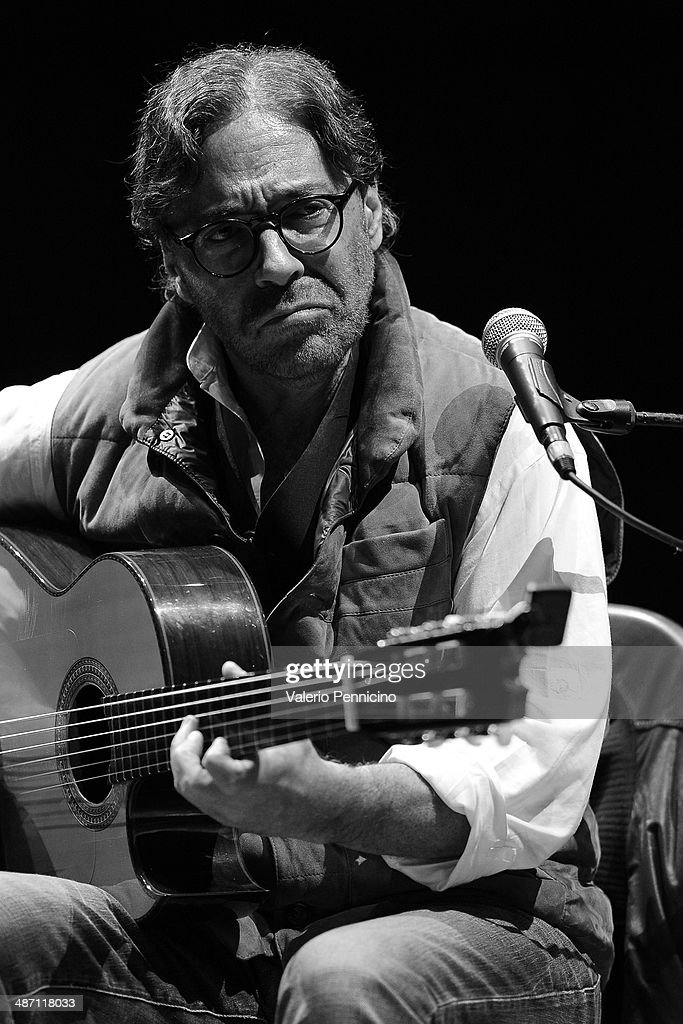 Al Di Meola performs during Torino Jazz Festival at Piazza Castello on April 27, 2014 in Turin, Italy.