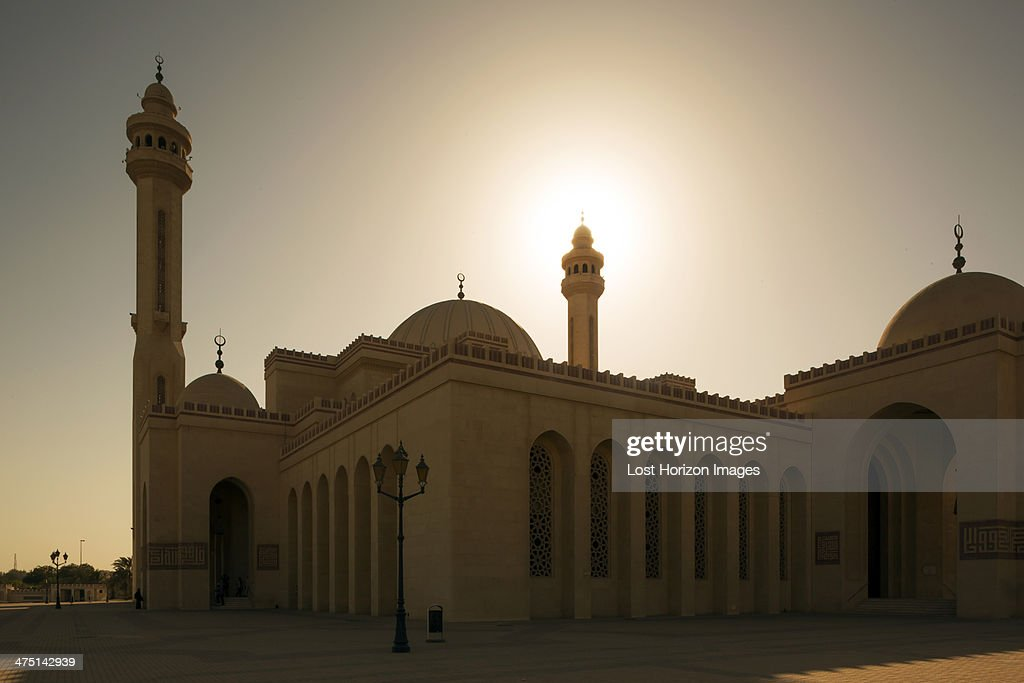 Al Fateh Grand Mosque at sunset, Manama, Bahrain : Stock Photo