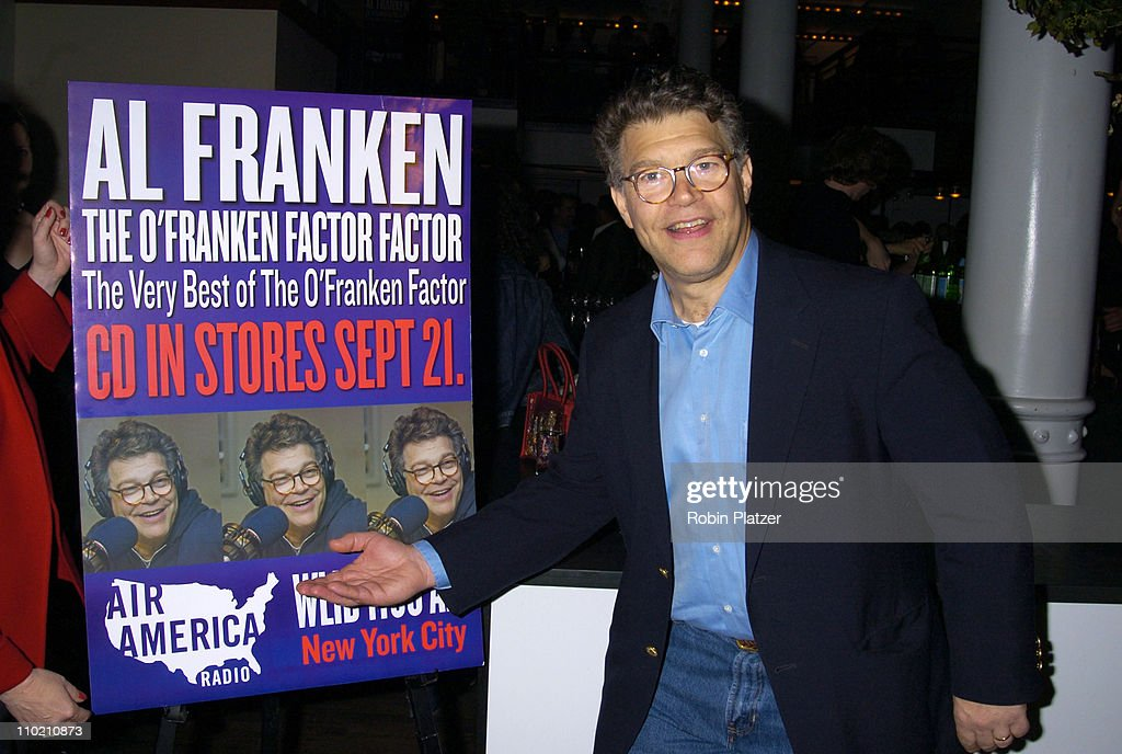 <a gi-track='captionPersonalityLinkClicked' href=/galleries/search?phrase=Al+Franken&family=editorial&specificpeople=167079 ng-click='$event.stopPropagation()'>Al Franken</a> during <a gi-track='captionPersonalityLinkClicked' href=/galleries/search?phrase=Al+Franken&family=editorial&specificpeople=167079 ng-click='$event.stopPropagation()'>Al Franken</a> CD Release Party for 'The O'Franken Factor Factor: The Very Best of the O'Franken Factor' at City Bakery in New York, New York, United States.