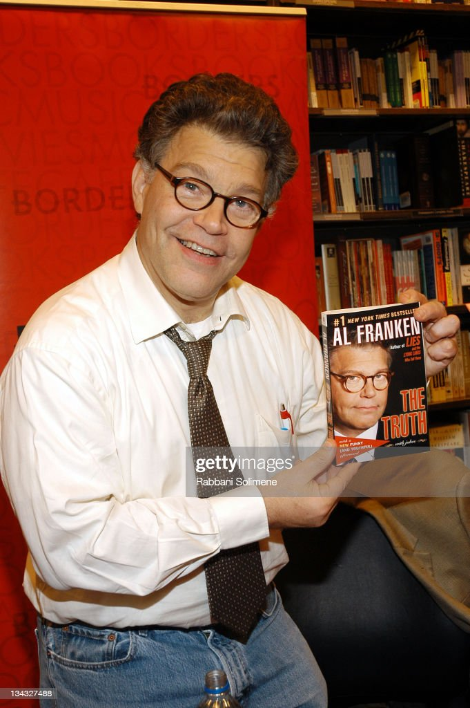 <a gi-track='captionPersonalityLinkClicked' href=/galleries/search?phrase=Al+Franken&family=editorial&specificpeople=167079 ng-click='$event.stopPropagation()'>Al Franken</a> during <a gi-track='captionPersonalityLinkClicked' href=/galleries/search?phrase=Al+Franken&family=editorial&specificpeople=167079 ng-click='$event.stopPropagation()'>Al Franken</a> Signing Copies of His Book 'The Truth (With Jokes)' at Borders - September 26, 2006 at Borders Books & Music in New York City, New York, United States.