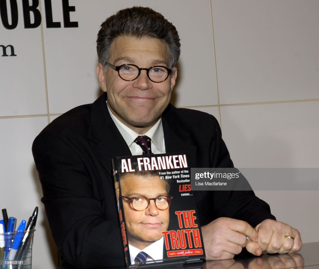 <a gi-track='captionPersonalityLinkClicked' href=/galleries/search?phrase=Al+Franken&family=editorial&specificpeople=167079 ng-click='$event.stopPropagation()'>Al Franken</a> during <a gi-track='captionPersonalityLinkClicked' href=/galleries/search?phrase=Al+Franken&family=editorial&specificpeople=167079 ng-click='$event.stopPropagation()'>Al Franken</a> Signs Copies of His Book 'The Truth With Jokes' at Barnes & Noble in New York City - October 26, 2005 at Barnes & Noble in New York City, New York, United States.
