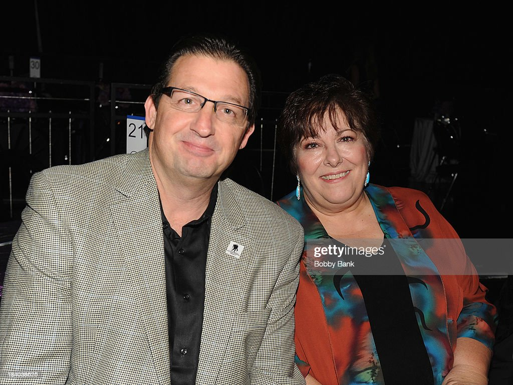 Al Giordano and Johanna Antonacci attends the Wounded Warrior Project Carry Foward Awards Arrivals at Club Nokia on October 10, 2013 in Los Angeles, California.