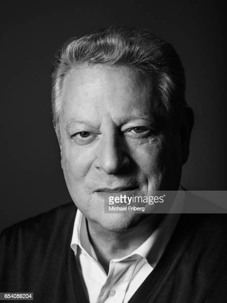 Al Gore American politician environmentalist and the 45th Vice President of the United States poses for a portrait at the Sundance Film Festival for...