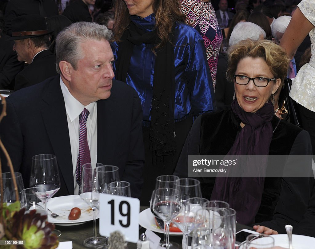 <a gi-track='captionPersonalityLinkClicked' href=/galleries/search?phrase=Al+Gore&family=editorial&specificpeople=119691 ng-click='$event.stopPropagation()'>Al Gore</a> and actress <a gi-track='captionPersonalityLinkClicked' href=/galleries/search?phrase=Annette+Bening&family=editorial&specificpeople=202568 ng-click='$event.stopPropagation()'>Annette Bening</a> attend UCLA Institute Of The Environment And Sustainability's 2nd Annual 'An Evening Of Environmental Excellence' - Inside on March 5, 2013 in Beverly Hills, California.