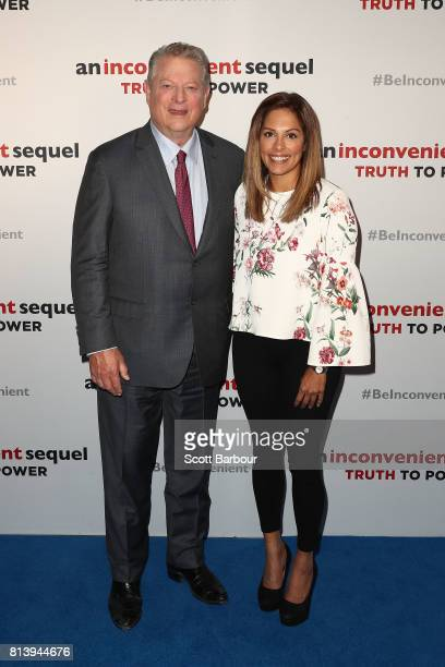 Al Gore and Anjali Rao attend a special screening of 'An Inconvenient Sequel Truth to Power' at ACMI on July 13 2017 in Melbourne Australia