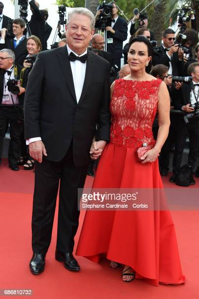 Al Gore and Elizabeth Keadle of 'An Inconvenient Sequel Truth to Power' attend 'The Killing Of A Sacred Deer' premiere during the 70th annual Cannes...