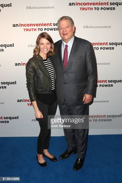 Al Gore and Jessica Watson attend a special screening of 'An Inconvenient Sequel Truth to Power' at ACMI on July 13 2017 in Melbourne Australia