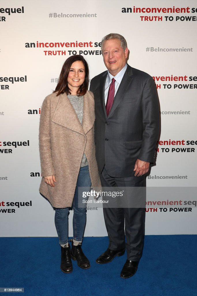 Al Gore and Missy Higgins attend a special screening of 'An Inconvenient Sequel: Truth to Power' at ACMI on July 13, 2017 in Melbourne, Australia.
