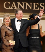 Al Gore and Tipper Gore during 2006 Cannes Film Festival 'Selon Charlie' Premiere at Palais du Festival in Cannes France