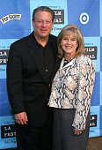 Al Gore and Tipper Gore during 2006 Los Angeles Film Festival 'An Inconvenient Truth' at the California Plaza at California Plaza in Los Angeles...