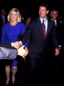 Al Gore and Tipper Gore during Al Gore and Tipper Gore File Photo at Intercontinental Hotel in New York New York United States
