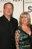 Al Gore and Tipper Gore during Opening of The Tribeca Film Festival Premiere of 'SOS Short Film Program' Red Carpet Arrivals at BMCC Tribeca PAC at...