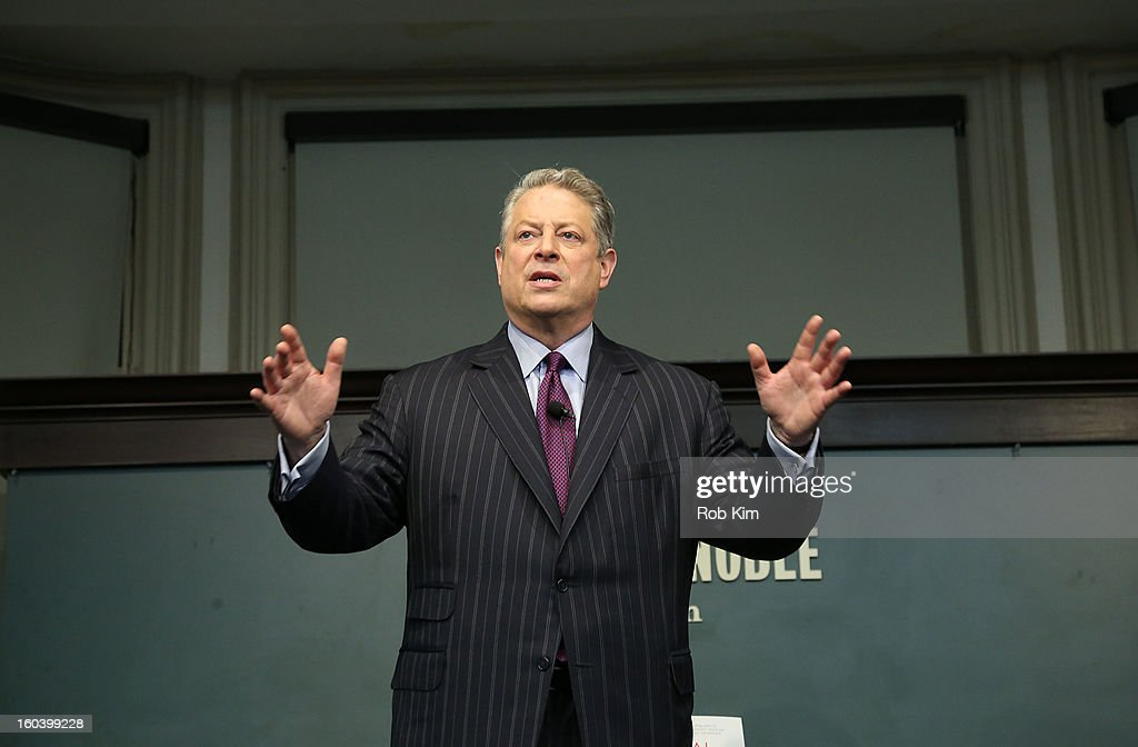 Al Gore promotes his new book, 'The Future' at Barnes & Noble Union Square on January 30, 2013 in New York City.