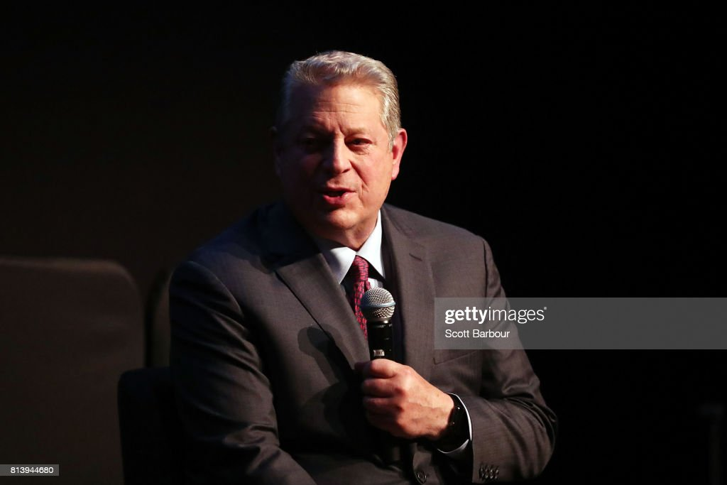 Al Gore speaks during a Q&A following a special screening of 'An Inconvenient Sequel: Truth to Power' at ACMI on July 13, 2017 in Melbourne, Australia.