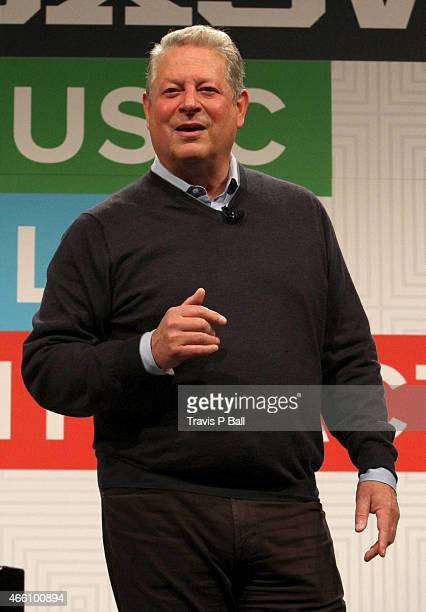 Al Gore speaks onstage at the Al Gore panel discussion during the 2015 SXSW Music Film Interactive Festival at Austin Convention Center on March 13...