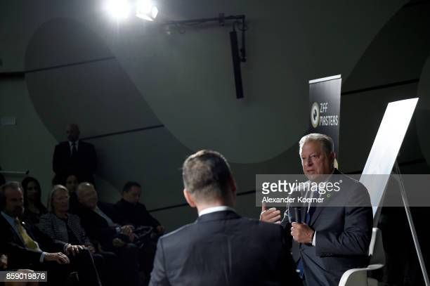 Al Gore speaks with Urs Gredig at the 'A conversation with' event during the 13th Zurich Film Festival on October 8 2017 in Zurich Switzerland The...