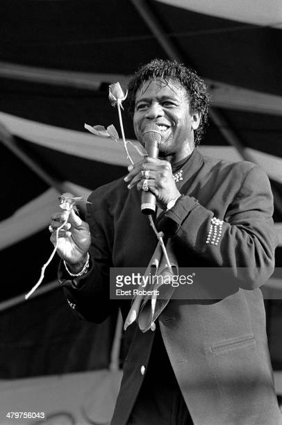 Al Green performing at the New Orleans Jazz and Heritage Festival in New Orleans Louisiana on May 4 1995