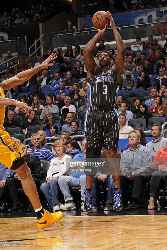 <a gi-track='captionPersonalityLinkClicked' href=/galleries/search?phrase=Al+Harrington&family=editorial&specificpeople=201645 ng-click='$event.stopPropagation()'>Al Harrington</a> #3 of the Orlando Magic shoots during a game against the Indiana Pacers on March 8, 2013 at Amway Center in Orlando, Florida.