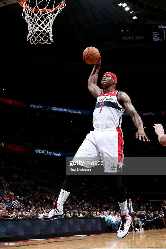 <a gi-track='captionPersonalityLinkClicked' href=/galleries/search?phrase=Al+Harrington&family=editorial&specificpeople=201645 ng-click='$event.stopPropagation()'>Al Harrington</a> #7 of the Washington Wizards dunks against the Miami Heat at the Verizon Center on April 14, 2014 in Washington, DC.