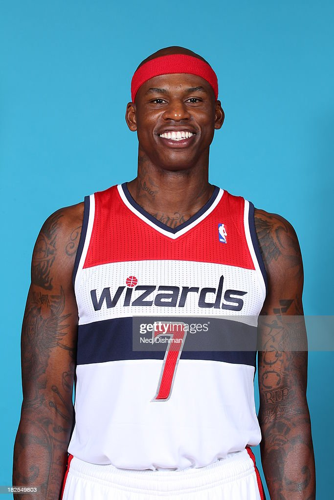 Al Harrington #7 of the Washington Wizards poses for a portrait during 2013 NBA Media Day at the Verizon Center on September 27, 2013 in Washington, DC.