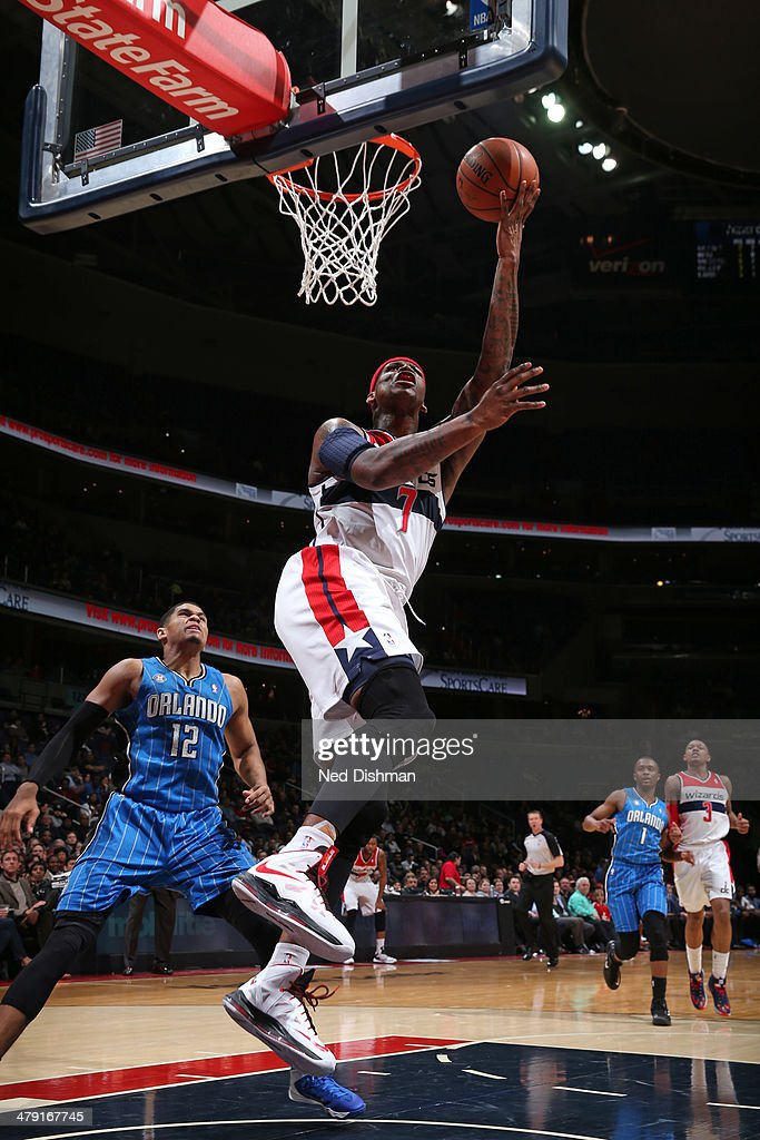 <a gi-track='captionPersonalityLinkClicked' href=/galleries/search?phrase=Al+Harrington&family=editorial&specificpeople=201645 ng-click='$event.stopPropagation()'>Al Harrington</a> #7 of the Washington Wizards shoots the ball during the game against the Orlando Magic at the Verizon Center on February 25, 2014 in Washington, DC.