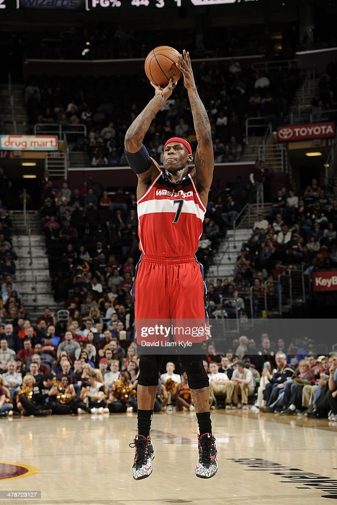 <a gi-track='captionPersonalityLinkClicked' href=/galleries/search?phrase=Al+Harrington&family=editorial&specificpeople=201645 ng-click='$event.stopPropagation()'>Al Harrington</a> #7 of the Washington Wizards takes a shot against the Cleveland Cavaliers at The Quicken Loans Arena on February 23, 2014 in Cleveland, Ohio.