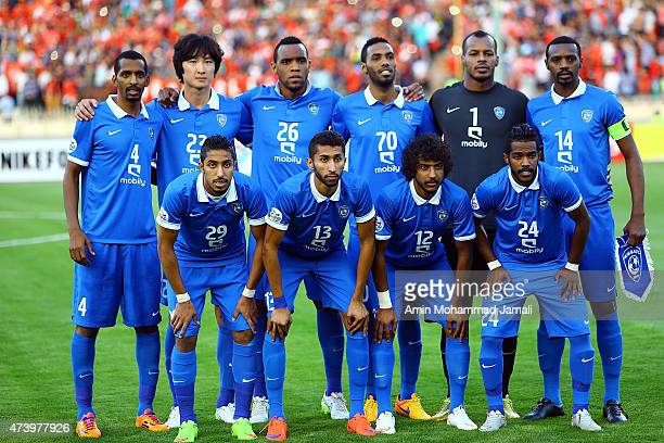 Al Hilal Players poses for team photo during Persepolis vs Al Hilal AFC Champions League at Azadi Stadium on May 19 2015 in Tehran Iran