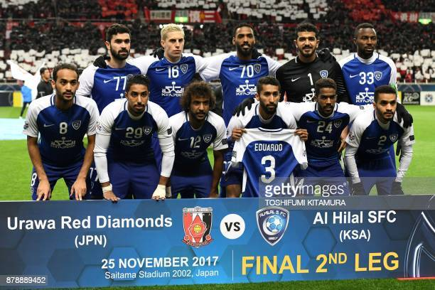 Al Hilal's forward Omar Khrbin midfielder Nicolas Milesi defender Mohammed Jahfali goalkeeper Abdullah alMuaiouf defender Osama Hawsawi midfielder...