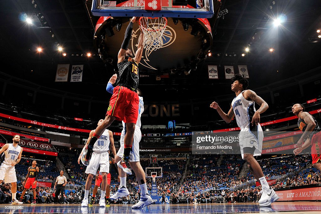 <a gi-track='captionPersonalityLinkClicked' href=/galleries/search?phrase=Al+Horford&family=editorial&specificpeople=699030 ng-click='$event.stopPropagation()'>Al Horford</a> #15 of the Atlanta Hawks dunks against the Orlando Magic on February 7, 2016 at the Amway Center in Orlando, Florida.