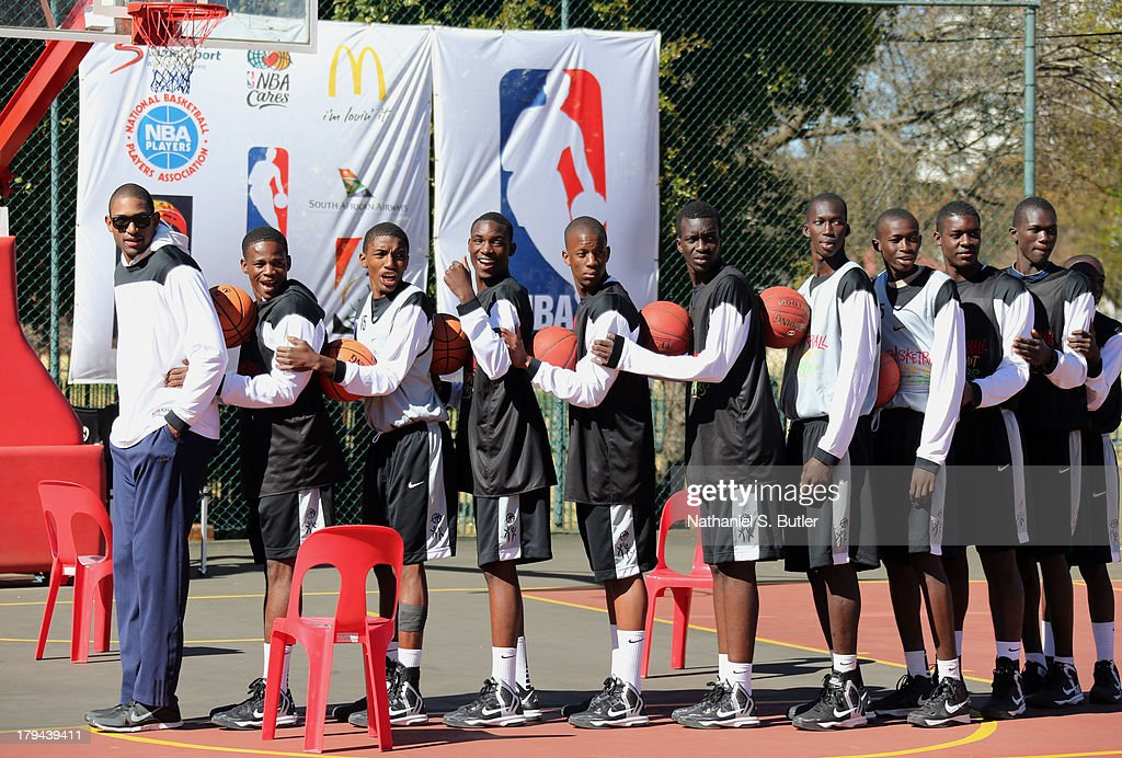 Al Horford of the Atlanta Hawks during the Life Skills portion of the Basketball Without Boarders program in Johannesburg, South Africa.