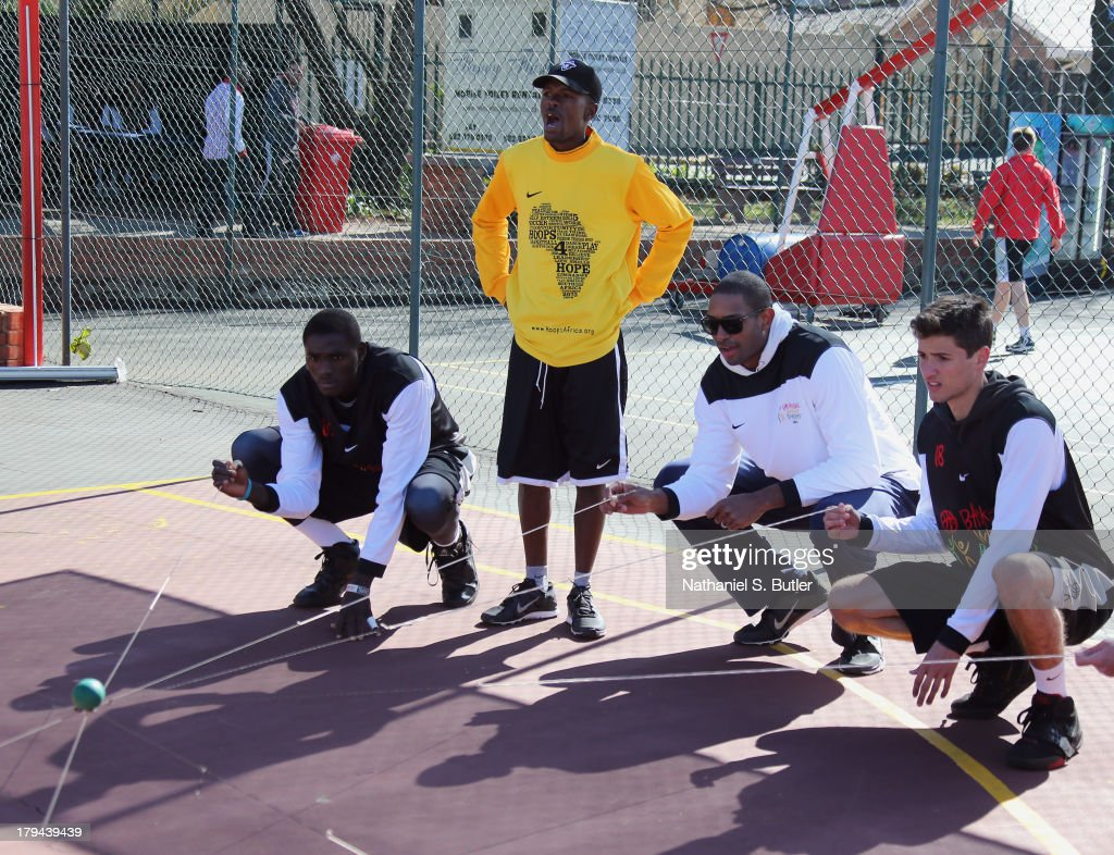 Al Horford of the Atlanta Hawks during the Life Skills portion of the the Basketball Without Boarders program in Johannesburg, South Africa.