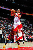 Al Horford of the Atlanta Hawks grabs a rebound against the Cleveland Cavaliers on March 6 2015 at Philips Arena in Atlanta Georgia NOTE TO USER User...