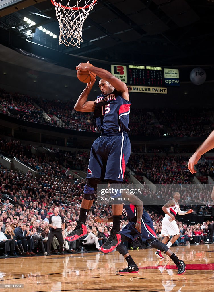 <a gi-track='captionPersonalityLinkClicked' href=/galleries/search?phrase=Al+Horford&family=editorial&specificpeople=699030 ng-click='$event.stopPropagation()'>Al Horford</a> #15 of the Atlanta Hawks grabs the ball against the Portland Trail Blazers on November 12, 2012 at the Rose Garden Arena in Portland, Oregon.