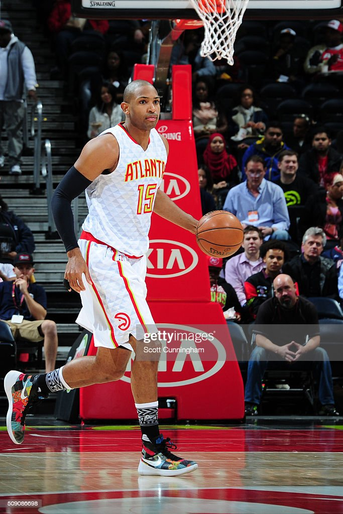 <a gi-track='captionPersonalityLinkClicked' href=/galleries/search?phrase=Al+Horford&family=editorial&specificpeople=699030 ng-click='$event.stopPropagation()'>Al Horford</a> #15 of the Atlanta Hawks handles the ball against the Orlando Magic on February 8, 2016 at Philips Arena in Atlanta, Georgia.