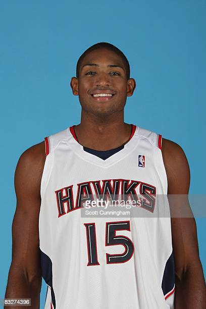 Al Horford of the Atlanta Hawks poses for a portrait during NBA Media Day on September 29 2008 at Philips Arena in Atlanta Georgia NOTE TO USER User...